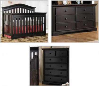 Bonavita Westfield Collection Westfield 3 Piece Set: Crib, Double Dresser and 5 Drawer Picture