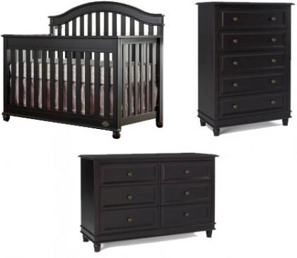 Bonavita Bradlee Collection Bradlee 3 Piece Package: Crib, Double Dresser and 5 Drawer Picture