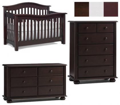 Bonavita Kinsley Collection Kinsley 3 Piece Set: Crib, Double Dresser and 5 Drawer Chest Picture