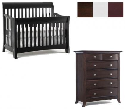 Bonavita Metro Collection Metro 2 Piece Set: Lifestyle Crib and 5 Drawer Chest Picture