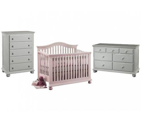 Sorelle Vista Collection Series 2600 Vista Collection 3 Piece Set: Crib, Double Dresser and 5 Drawer Chest Picture