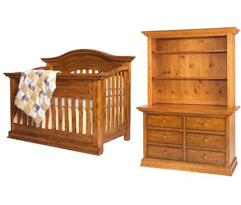 Bonavita Sheffield Collection Sheffield 3 Piece Set: Lifestyle Crib, Double Dresser and Hutch Picture