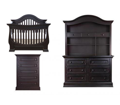 Baby Appleseed Davenport Collection Davenport 4 Piece Set: Crib, Dresser, Hutch and Chest Picture