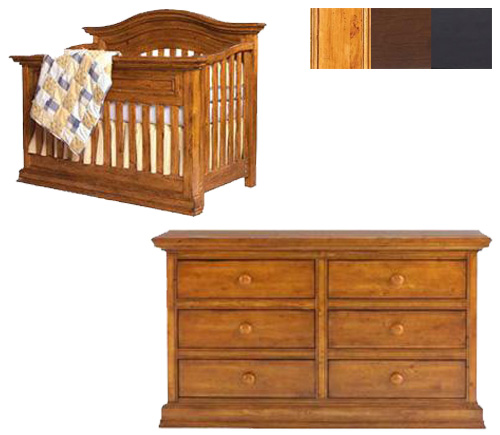 Bonavita Sheffield Collection Sheffield 2 Piece Set: Lifestyle Crib and Double Dresser Picture