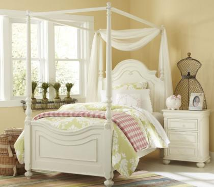 Legacy Classic Kids Charlotte Charlotte Complete High Poster Bed with Canopy Frame Twin 3/3 Picture