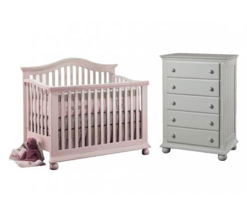 Sorelle Vista Collection Series 2600 Vista Collection 3 Piece Set: Crib, 5 Drawer Chest and Full Size Rails Picture