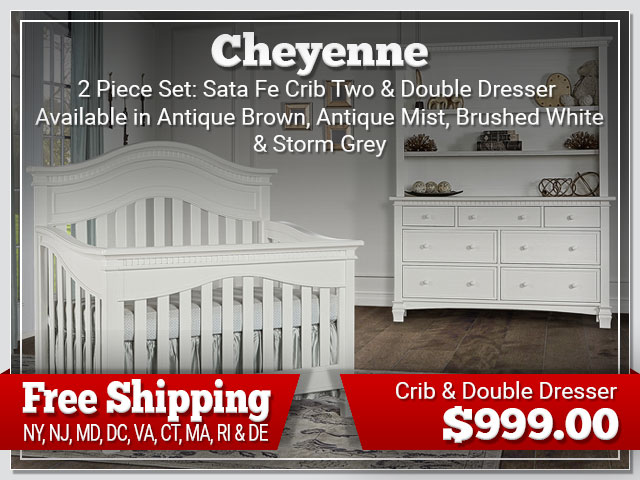 Evolur Cheyenne 2 piece Set: Crib and Dresser $899.00