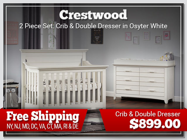 Oxford Baby Crestwood 2 piece Set: Crib and Dresser $899.00