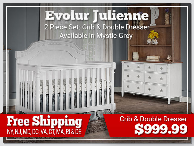 Evolur Julienne 2 piece Set: Crib and Dresser $899.00