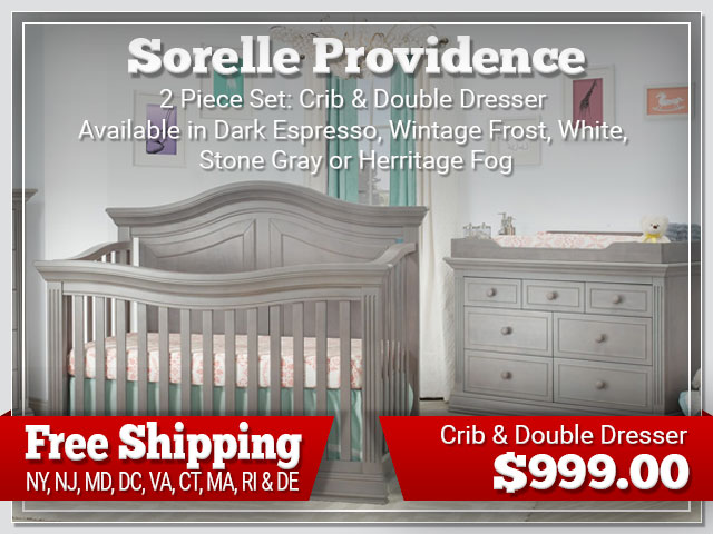 Sorelle Providence 2 piece Set: Crib and Dresser $899.00