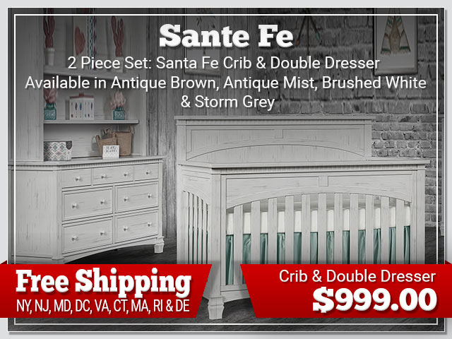 Evolur Santa Fe 2 piece Set: Crib and Dresser $899.00