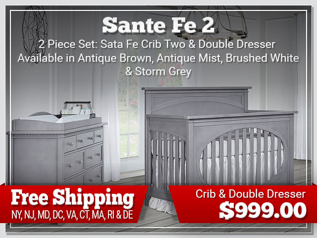 Evolur Santafe Two 2 piece Set: Crib and Dresser $899.00