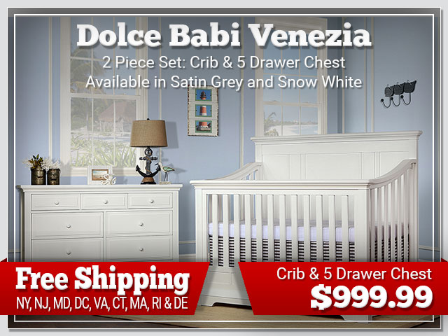 Dolce Babi Venezia 2 piece Set: Crib and Chest $999.99