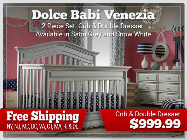 Dolce Babi Venezia 2 piece Set: Crib and Dresser $999.99