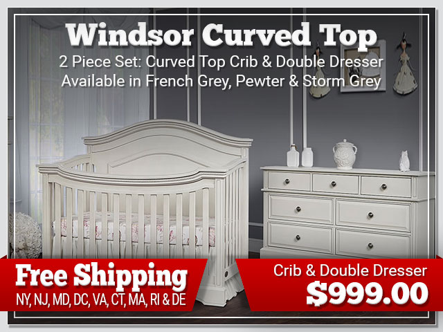 Evolur Windsor Curved Top 2 piece Set: Crib and Dresser $899.00