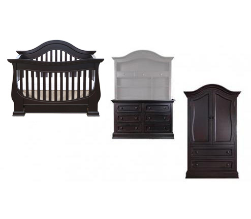 Baby Appleseed Davenport 3 Piece Package: Lifestyle Crib, Double Dresser  And Armoire